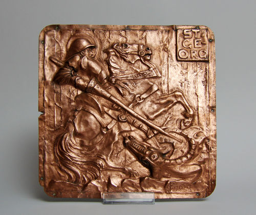 Copper plate, holy Georg