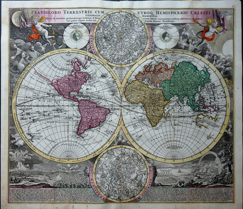 World map of 1710